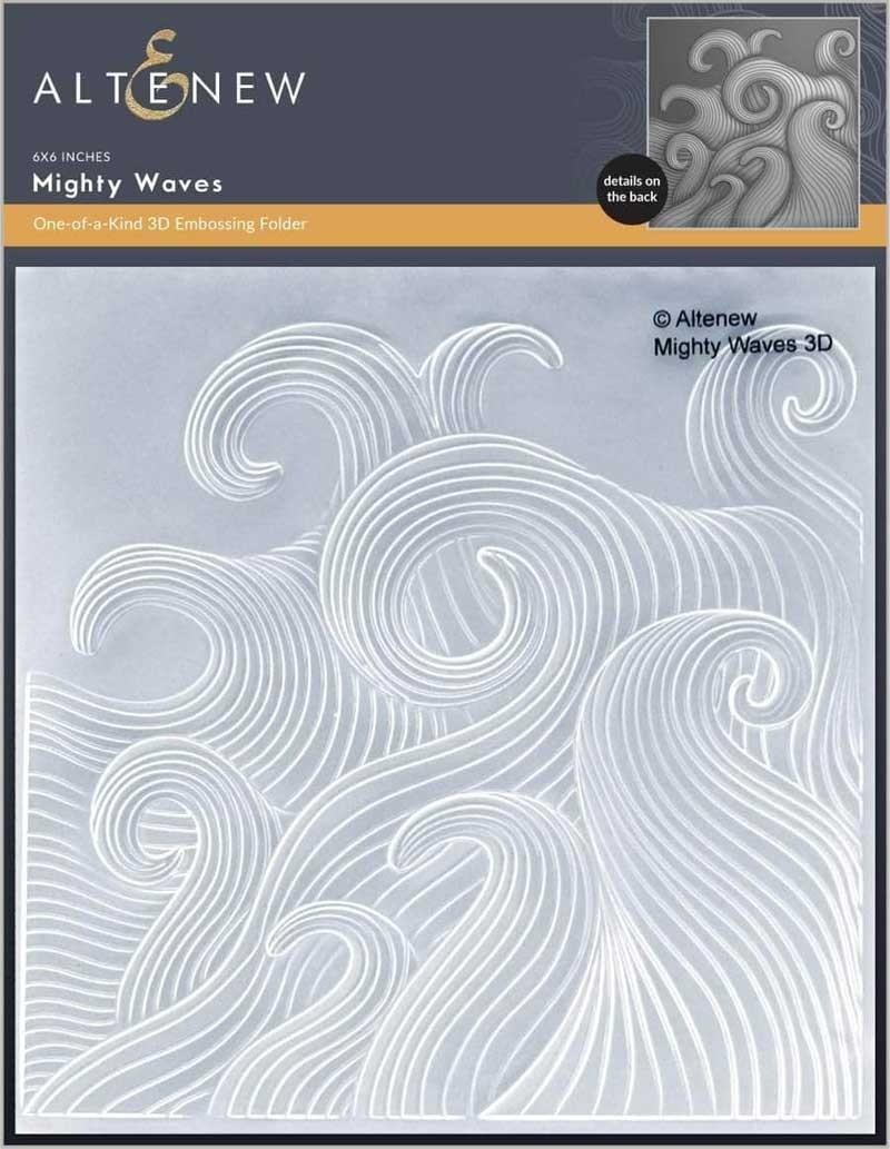 Altenew Mighty Waves 3D Embossing Folder