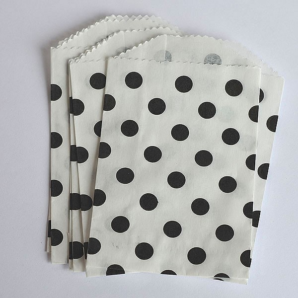 Mini polka dot bags - black