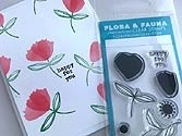 Flora and Fauna Mini Brush Petal Clear Stamp Set