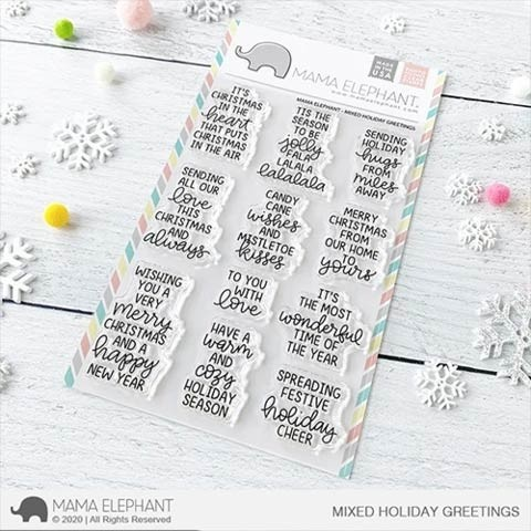 Mama Elephant Mixed Holiday Greetings