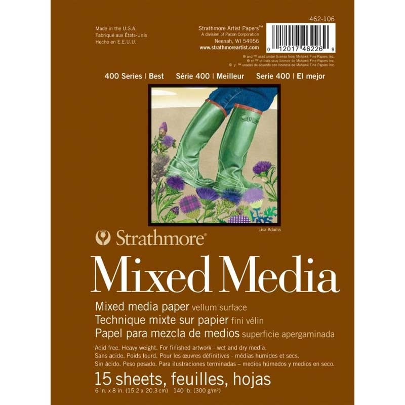 "Strathmore White Mixed Media Vellum Paper Pad 6""X8"""