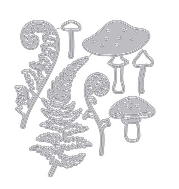 Hero Arts Mushroom and Ferns Fancy Dies DI931