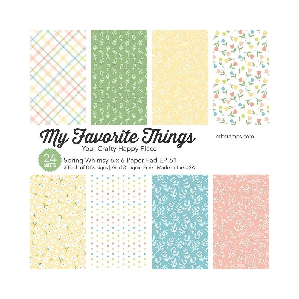 """My Favorite Things Spring Whimsy Single-Sided Paper Pad 6""""X6"""" 24/Pkg"""