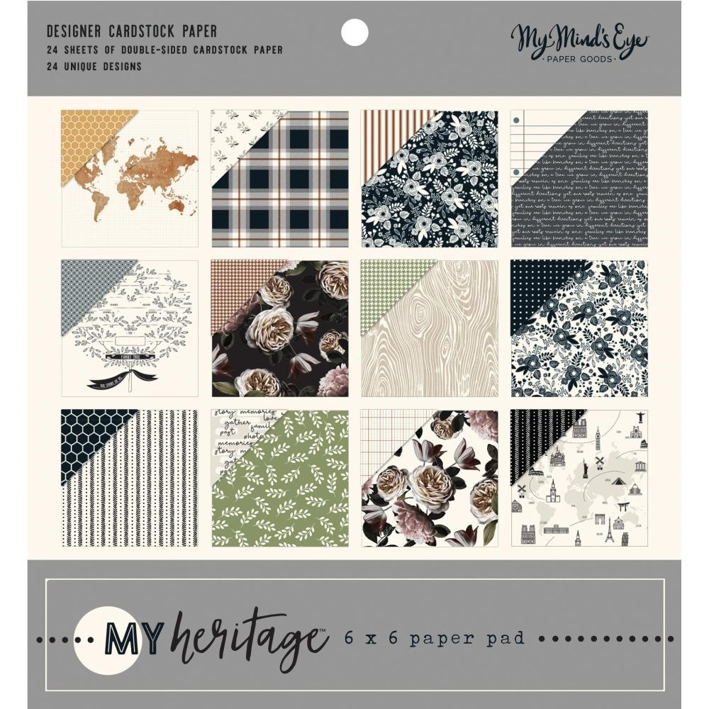 """My Mind's Eye My Heritage Double-Sided Paper Pad 6""""X6"""""""