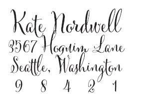 Kate Nordwell Custom Stamp