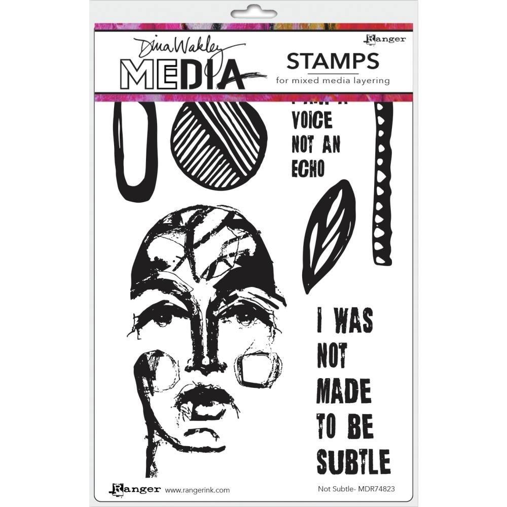 NEW Dina Wakley Not Subtle Stamp Set