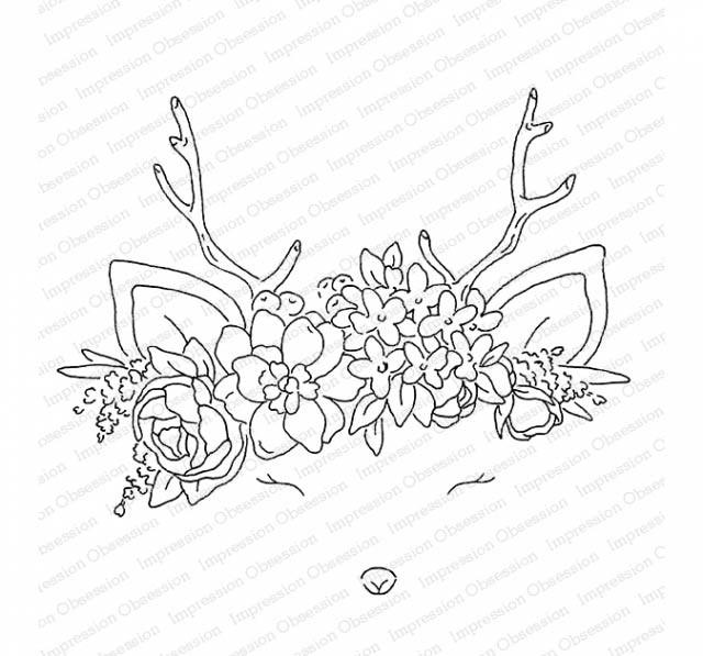 Oh Deer Rubber Stamp L20784
