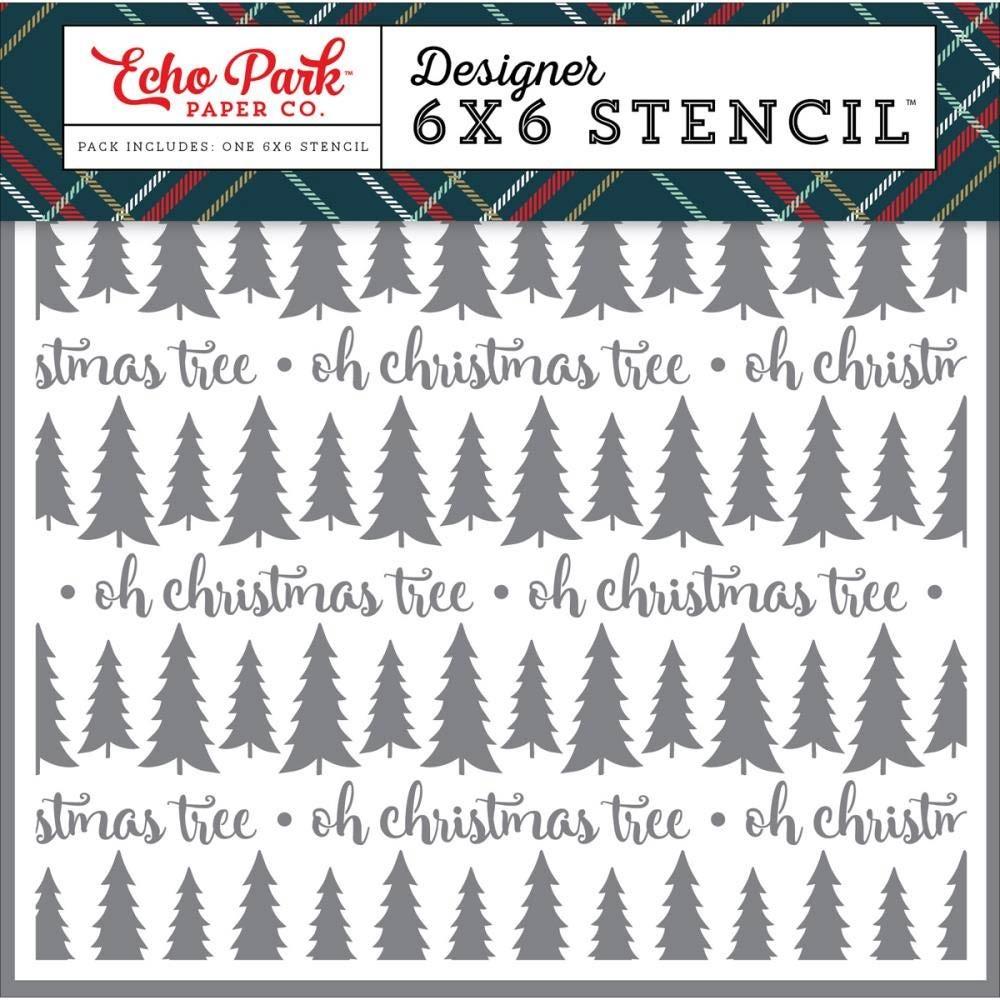 Oh Christmas Tree Stencil