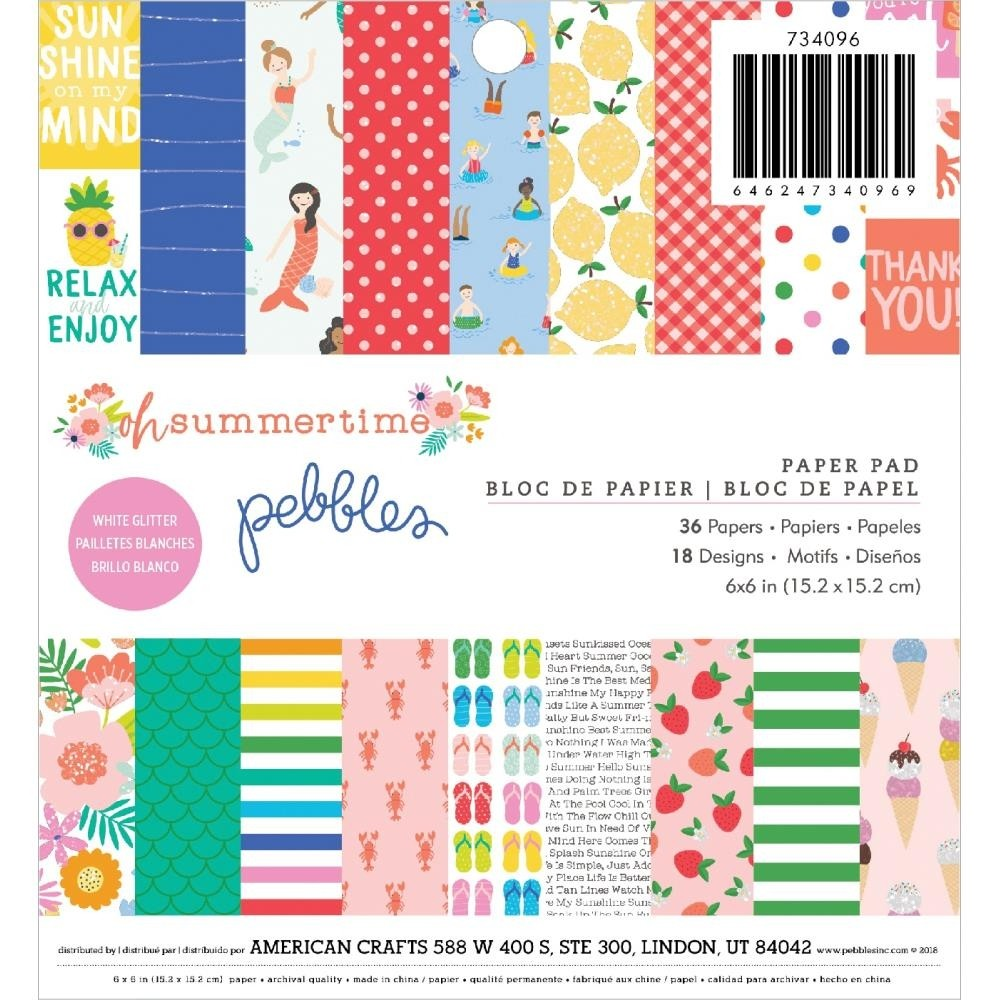 Pebbles Oh Summertime Paper Pack
