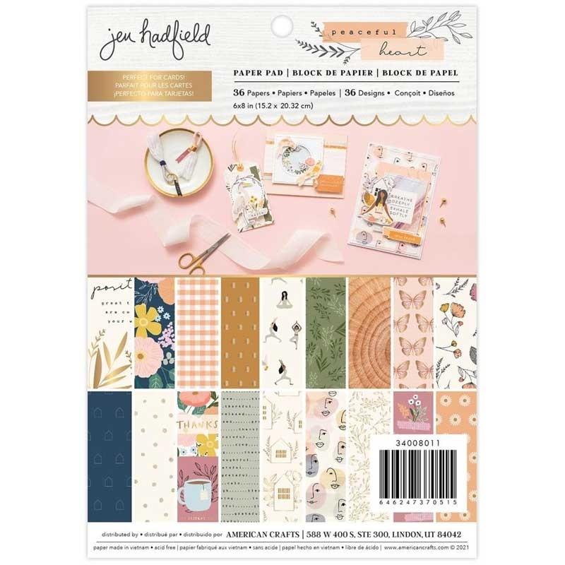 Jen Hadfield Peaceful Heart Paper Pad 6x8