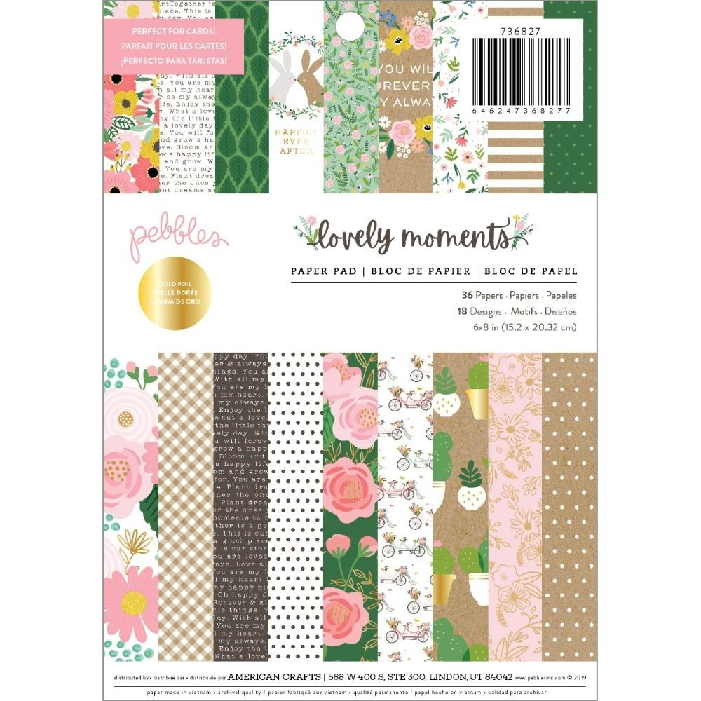 Pebbles Lovely Moments Paper Pad