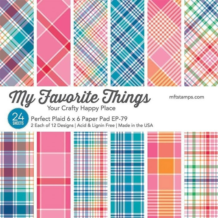 NEW - My Favorite Things Perfect Plaid 6x6 Paper Pad