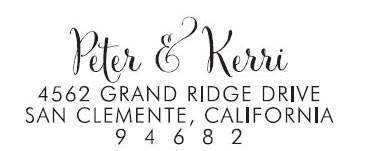 Peter & Kerri Custom Stamp