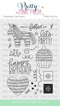 Pretty Pink Posh Pinata Party Stamp Set