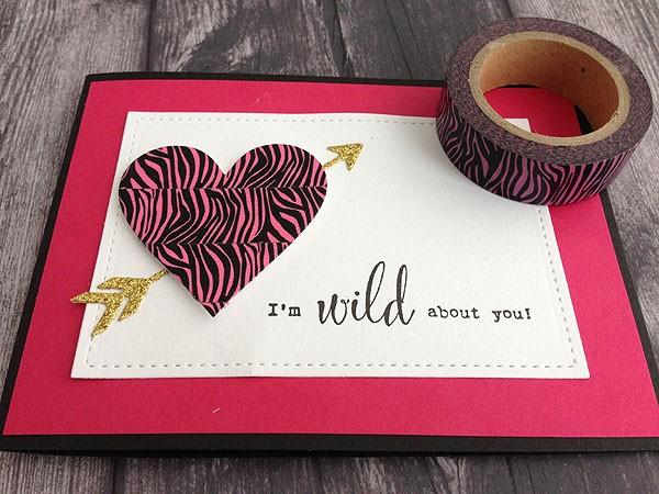 Pink zebra washi tape