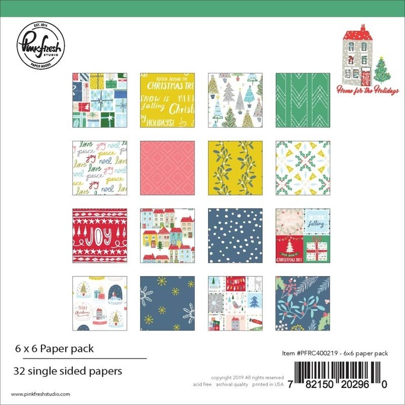 SALE - Pink Fresh Home For The Holidays 6 x 6 Paper Pad