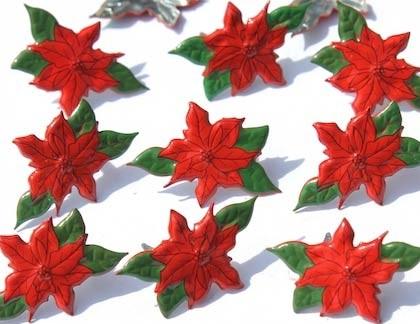 Poinsettia Brads