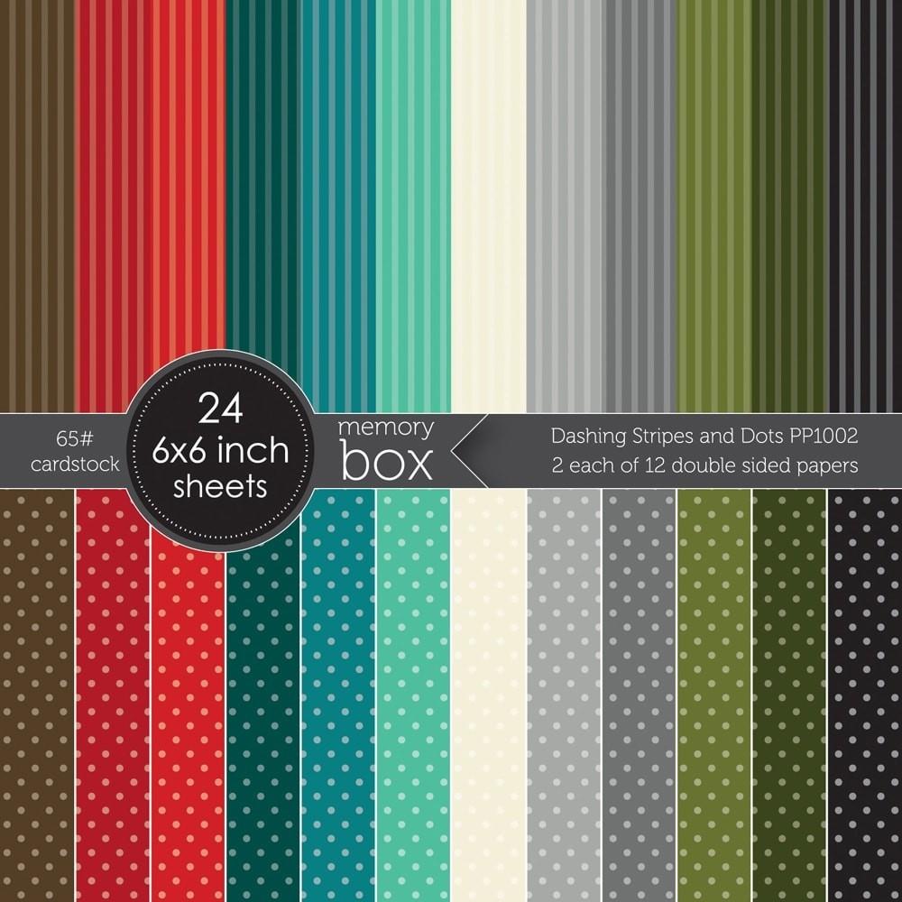 Memory Box Dashing Stripes and Dots 6x6 pack