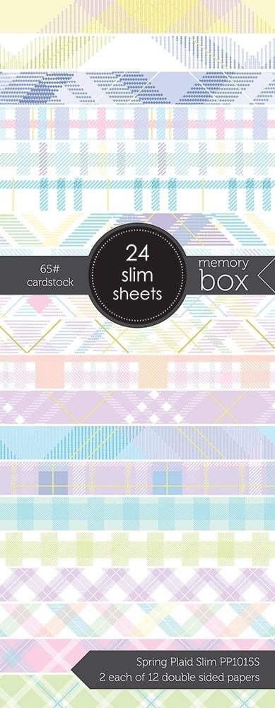 Spring Plaid Slim 3.5x8.5 pack