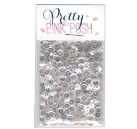 Pretty Pink Posh Clear Sequins - 4mm