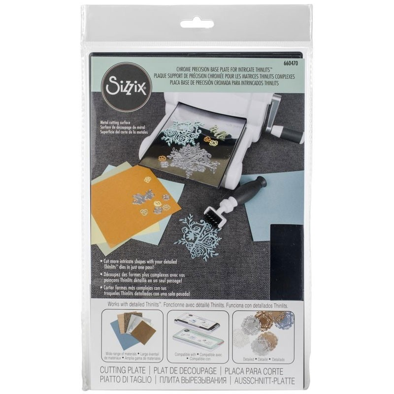 Sizzix Chrome Precision Base Plate For Intricate Thinlits