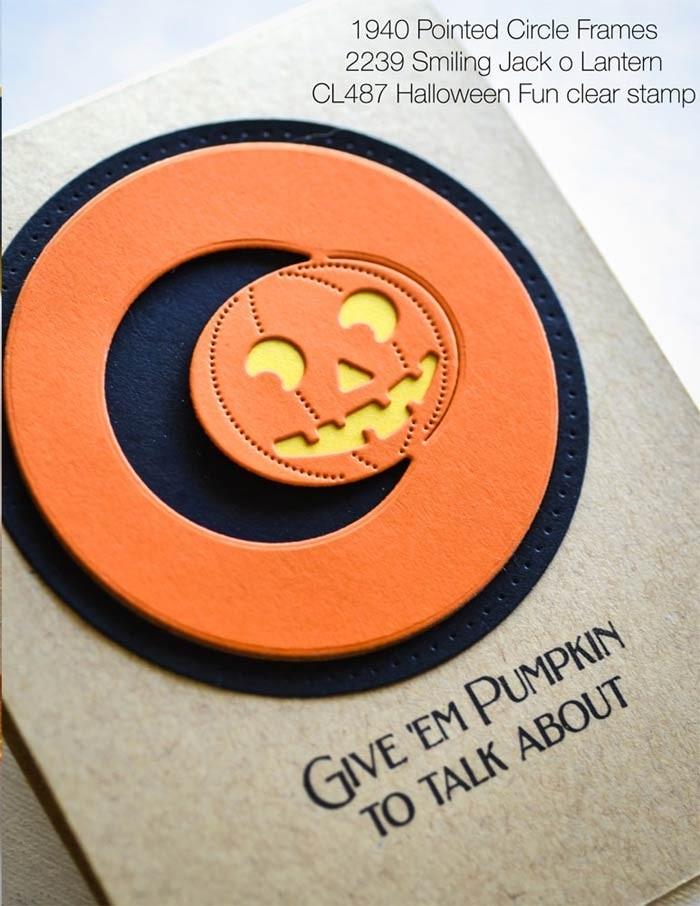 Poppy Stamps Smiling Jack o Lantern craft die 2239