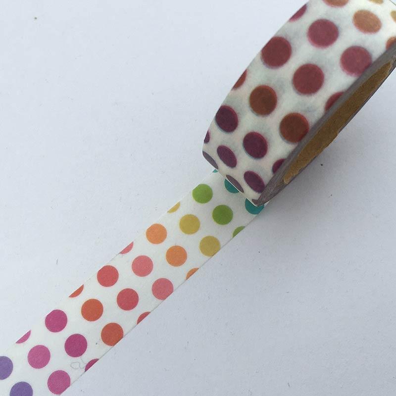 Rainbow Dots Washi Tape