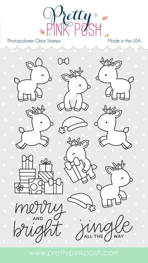 Prety Pink Posh Reindeer Friends Stamp Set