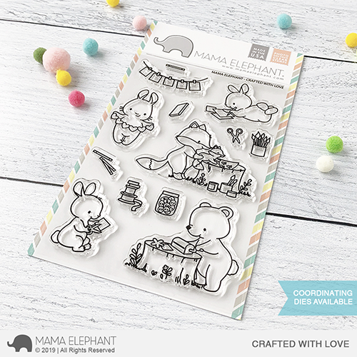 Mama Elephant Crafted with Love stamp set