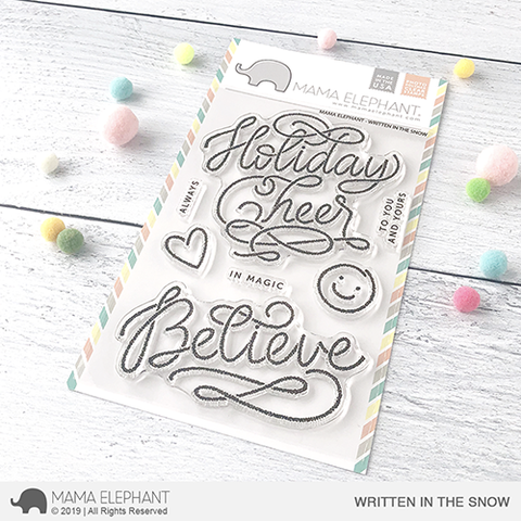 SALE - Mama Elephant Written in the Snow Stamp Set