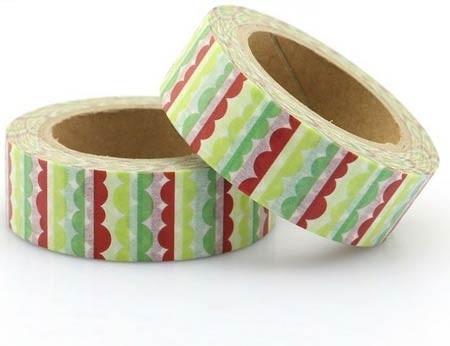 Scalloped Stripes Washi Tape