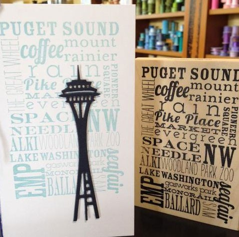 5374 - seattle word background