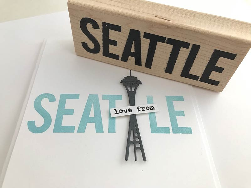 5759f - Seattle rubber stamp