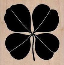 Shamrock Four Leaf Rubber Stamp
