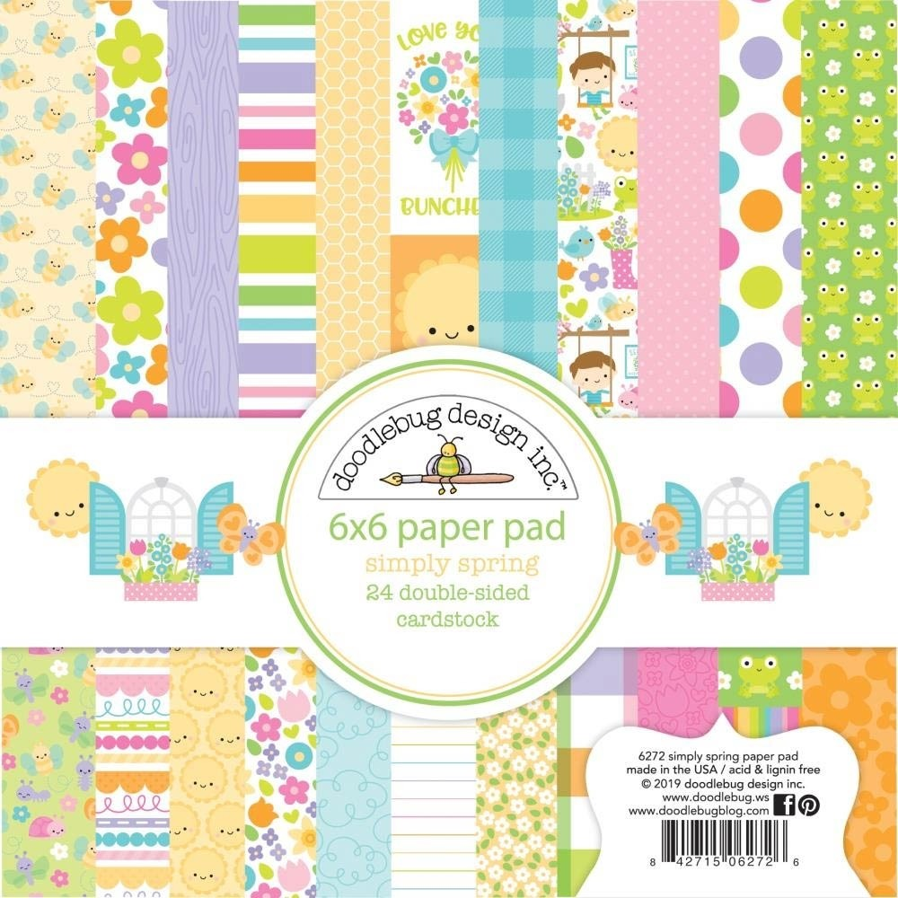 Doodlebug Simply Spring 6x6 Paper Pack