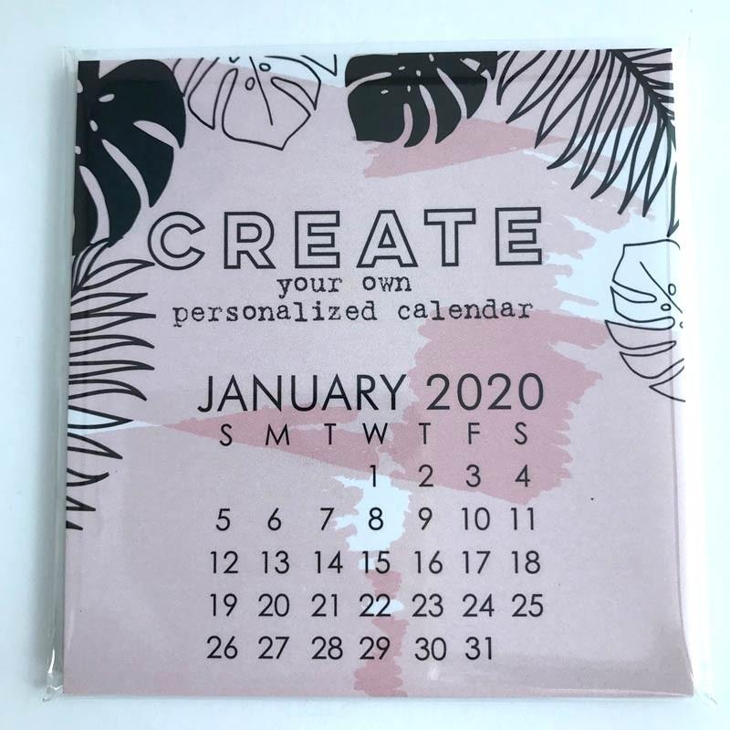 Small Impress 2020 DIY Calendar Refill