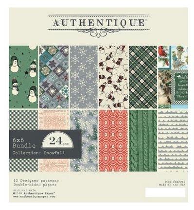 Authentique Snowfall 6x6 Paper Pad