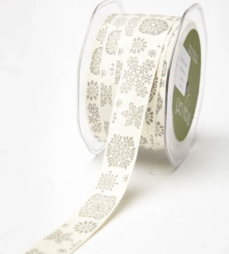 Snowflake Printed Ribbon