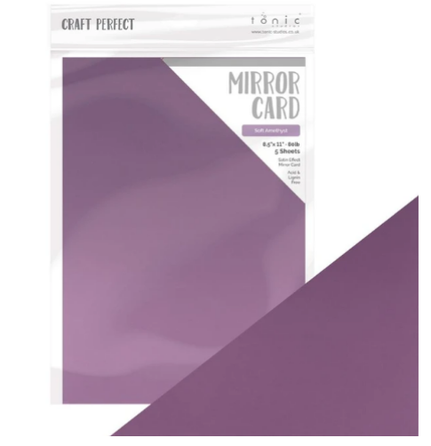NEW soft amethyst mirror cardstock