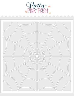 Pretty Pink Posh Spider Web Stencil