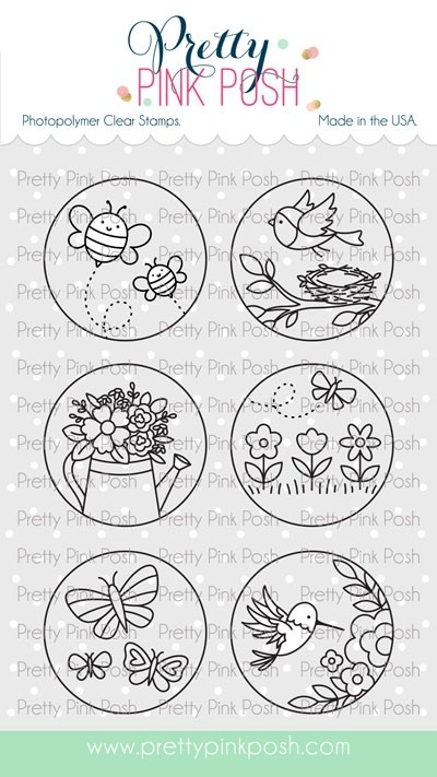 Pretty Pink Posh Spring Circles Stamp Set