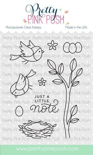 Pretty Pink Posh Spring Robins Stamp Set