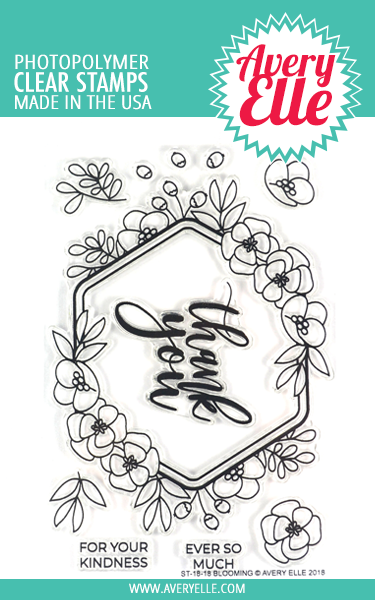 Avery Elle Blooming Clear Stamps