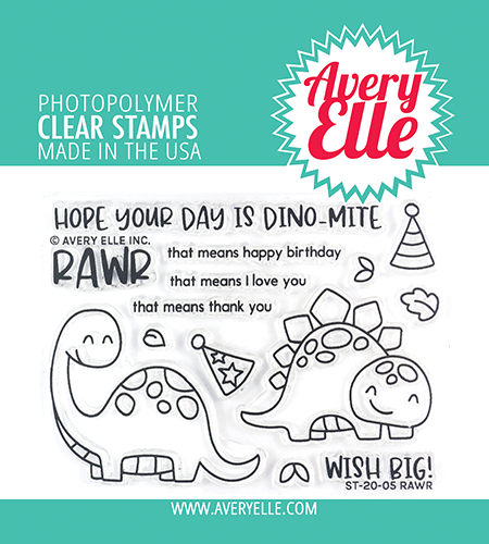 Avery Elle Rawr Clear Stamps