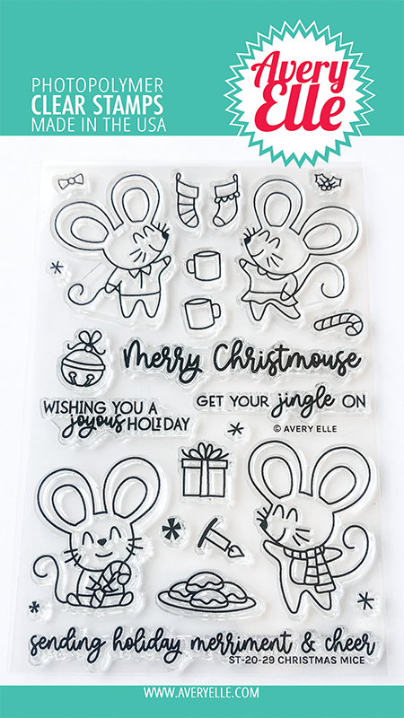 Avery Elle Christmas Mice Clear Stamp st2028