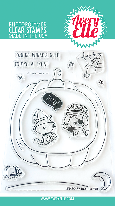 Avery Elle Boo to you clear stamps st2037