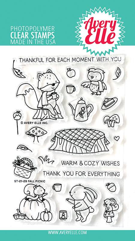 Avery Elle Fall Picnic Clear Stamps ST-21-29