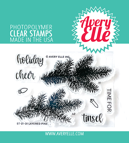 Avery Elle Layered Pine Clear Stamps ST-21-31
