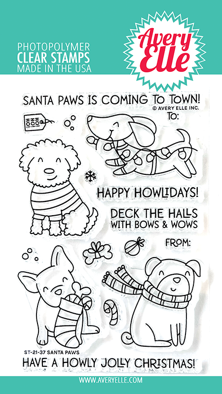 Avery Elle Santa Paws Clear Stamps ST-21-37