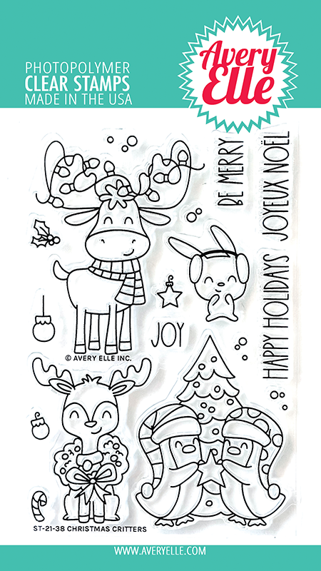 Avery Elle Christmas Critters Clear Stamps DST-21-38